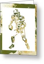 Aaron Rodgers Green Bay Packers Water Color Art 1 Greeting Card