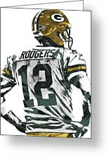 Aaron Rodgers Green Bay Packers Pixel Art 5 Greeting Card