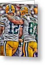 Aaron Rodgers Jordy Nelson Green Bay Packers Art Painting by Joe