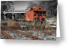 Abandon Caboose Greeting Card