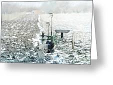 Abandon Plow Greeting Card