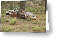 Abandoned Antique Car Greeting Card