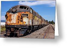 Abandoned Bessemer And Lake Erie Trains Schellville California Greeting Card