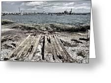 Abandoned Boat Slip Greeting Card