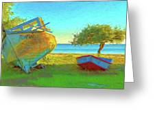 Abandoned Boats On Choctawhatchee Bay Greeting Card