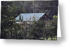 Abandoned Cabin In The Woods Greeting Card
