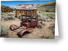 Abandoned Cars, Bodie Ghost Town Greeting Card