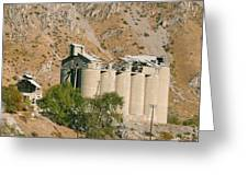 Abandoned Cement Silos Greeting Card