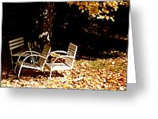 Abandoned Chairs Greeting Card