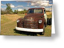 Abandoned Chevy Greeting Card
