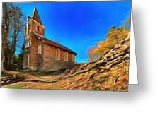 Abandoned Church Of Abandoned Village Paint - Chiesa Abbandonata Di Paesino Abbandonata Paint Greeting Card