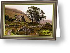 Abandoned Cottage - Scotland H A With Decorative Ornate Printed Frame Greeting Card