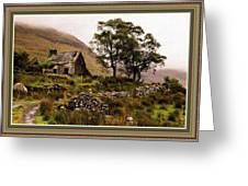 Abandoned Cottage - Scotland H B With Decorative Ornate Printed Frame Greeting Card
