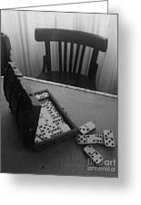 Abandoned Domino Set Greeting Card