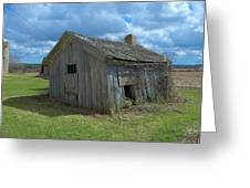 Abandoned Farm Building Greeting Card