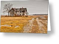 Abandoned Farm House Greeting Card by Cale Best