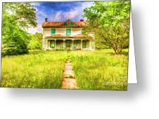 Abandoned Farm House Greeting Card
