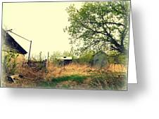 Abandoned Farm Yard Greeting Card