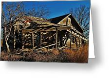 Abandoned Farmhouse In Kansas Greeting Card