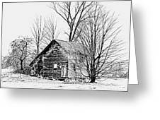 Abandoned Farmhouse In The Michigan Countryside Greeting Card