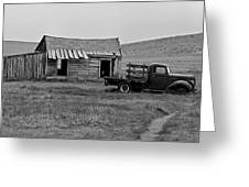 Abandoned Ford Truck And Shed Greeting Card
