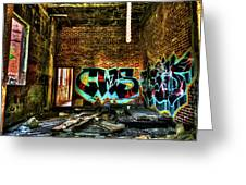Abandoned, Hdr Greeting Card