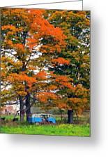 Abandoned Hippie Van Greeting Card