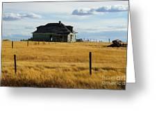 Abandoned Homestead Saskatchewan Greeting Card