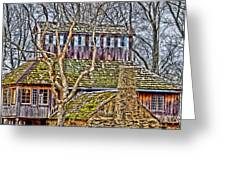 Abandoned House-don Robinson State Park-enhanced Greeting Card