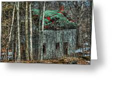 Abandoned In The Woods. Greeting Card