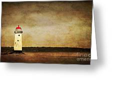 Abandoned Lighthouse Greeting Card by Meirion Matthias