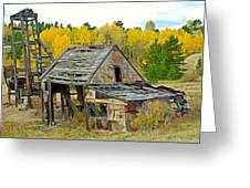 Abandoned Mine In Autumn Greeting Card