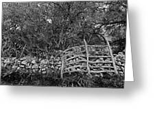 Abandoned Minorcan Country Gate Greeting Card