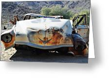 Abandoned Mojave Auto Greeting Card