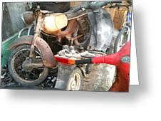 Abandoned Motorbike  Greeting Card