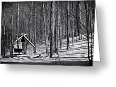 Abandoned New England Sugarhouse Greeting Card