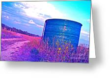 Abandoned Oil Storage Tank Greeting Card