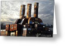 Abandoned Power Plant Greeting Card