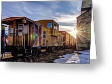 Abandoned Railcar Greeting Card