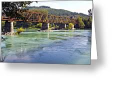 Abandoned Railroad Bridge Greeting Card