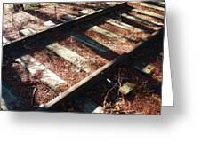 Abandoned Railtracks Greeting Card