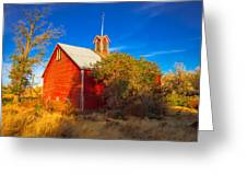 Abandoned Red Barn Greeting Card