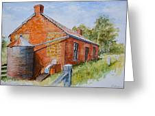 Abandoned Red Brick Cottage Near Maldon Greeting Card