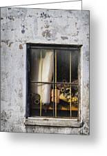 Abandoned Remnants Ala Grunge Greeting Card