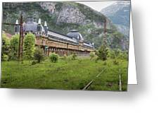 Abandoned Side Of The Canfranc International Railway Station Greeting Card