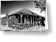 Abandoned Stone House Greeting Card