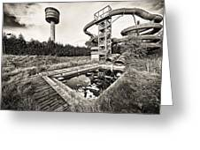 Abandoned Swimming Pool - Lost Places Greeting Card