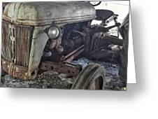 Abandoned Tractor Greeting Card