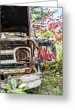 Abandoned Truck With Spray Paint Greeting Card