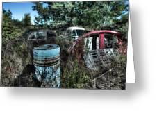 Abandoned Vehicles - Veicoli Abbandonati  1 Greeting Card